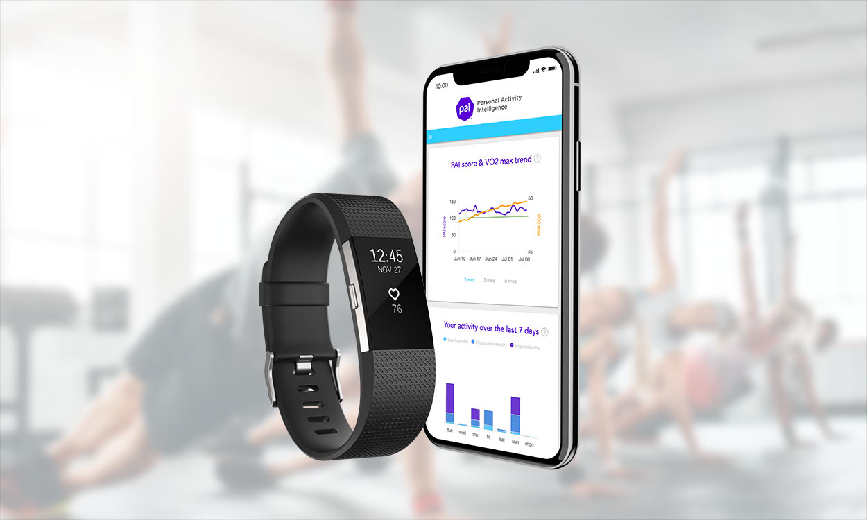 fitness monitoring device and smart phone