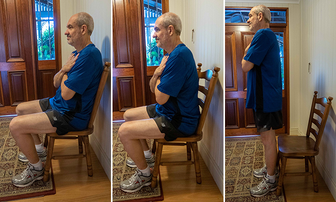 sit to stand exercise