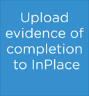 Upload evidence of completion to InPlace