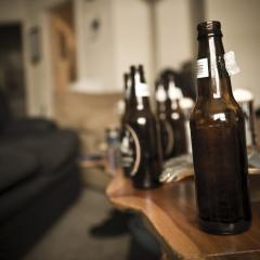 empty bottles of beer