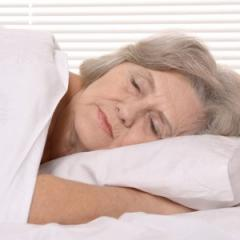 older women sleeping