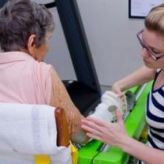 person receiving rehabilitation