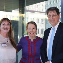 L-R: Dr Deb Walsh, The Honourable Di Farmer and Professor Bruce Abernethy, Executive Dean, Faculty of Health and Behavioural Sciences, UQ