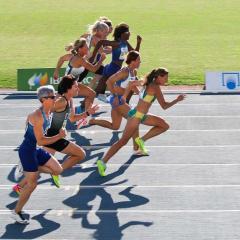 sprinters racing