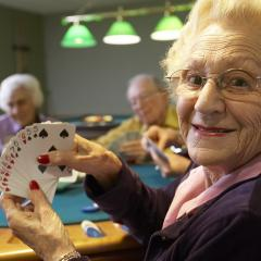 older people playing bridge