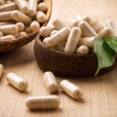 Bowl of herbal medicines