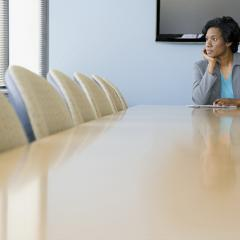 boss in boardroom