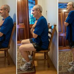 man exercising in his house